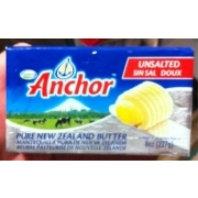 Anchor Unsalted Butter Calories Nutrition Analysis More Fooducate
