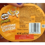 Pringles Potato Crisps Cheddar Cheese Calories Nutrition Analysis More Fooducate