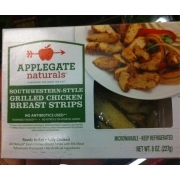 Applegate Naturals Southwestern-Style Grilled Chicken Breast Strips: Calories, Nutrition ...