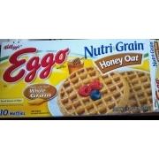 Eggo Nutri Grain, Honey Oat, Waffles