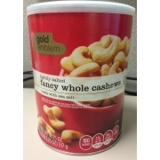 Gold Emblem Lightly Salted Fancy Whole Cashews: Calories, Nutrition on planters chocolate covered cashews, planters honey roasted cashews, sam's club cashews, planters cashews with sea salt butter, planters deluxe whole cashews, planters dry roasted cashews,