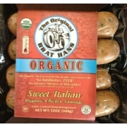 The Original Brat Hans Organic Sweet Italian Chicken Sausage