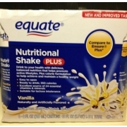 Equate Vanilla Nutritional Shake: Calories, Nutrition Analysis & More | Fooducate