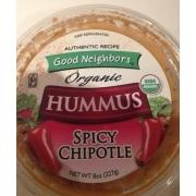 Good Neighbors Organic Spicy Chipotle Hummus: Calories, Nutrition ...