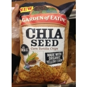 Garden of Eatin Chia Seed Corn Tortilla Chips Calories