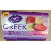 Nice Dannon Light U0026 Fit Greek Yogurt, Non Fat, Strawberry Banana