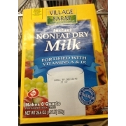 Village Farm Instant Nonfat Dry Milk, Fortified With Vitamins A & D