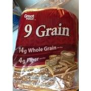 Great Value 9 Grain Bread Nutrition Grade B Plus 120 Calories