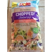 Dole Chopped Salad Kit With BBQ Ranch Dressing: Calories, Nutrition Analysis & More | Fooducate