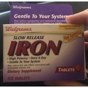 Walgreens Slow Release Iron, Tablet, Dietary Supplement