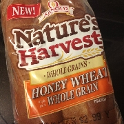 Nature S Harvest Honey Wheat Bread Nutrition