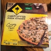 California Pizza Kitchen White Pizza Crispy Thin Crust Calories Nutrition Analysis More