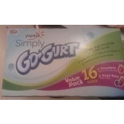 Yoplait Simply Gogurt With Strawberry And Mixed Berry. nutrition grade B. 60 Calories