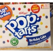 Kelloggs Pop Tarts Birthday Cake Flavored