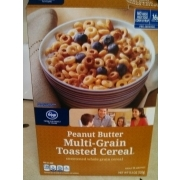 Kroger Peanut Butter Multi Grain Toasted Cereal: Calories, Nutrition ...