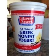 Market Basket Greek, Nonfat Yogurt, Vanilla: Calories, Nutrition Analysis & More | Fooducate