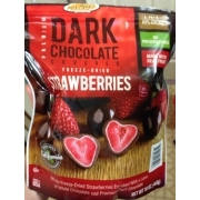 Dark Chocolate Covered Freeze Dried Strawberries