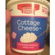 Giant Eagle Cottage Cheese, 4% Milkfat Minimum Large Curd