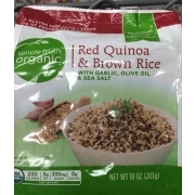 Simple Truth Organic Red Quinoa & Brown Rice With Garlic, Olive Oil & Sea Salt: Calories ...