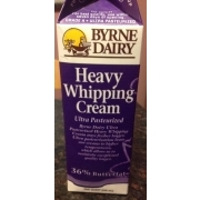 Byrne Dairy Heavy Whipping Cream Ultra Pasteurized Calories
