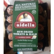 Aidells Sun-Dried Tomato & Kale, Smoked Chicken Sausage. nutrition grade C