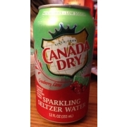 Canada Dry Sparkling Seltzer Water, Cranberry Lime ...