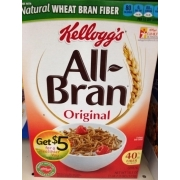 Cereals ready-to-eat, bran flakes, single brand Nutrition ...