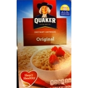 Quaker Instant Oatmeal, Original: Calories, Nutrition Analysis & More | Fooducate