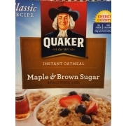 Quaker Instant Oatmeal, Maple & Brown Sugar: Calories, Nutrition Analysis & More | Fooducate