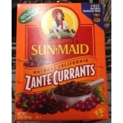 Sun-Maid Currants, Zante, Natural California: Calories ...
