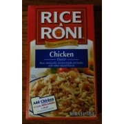 Rice A Roni Rice Meal Chicken Flavor Calories Nutrition Analysis Amp More Fooducate