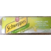 Schweppes Lemon Lime Sparkling Seltzer Water: Calories, Nutrition Analysis & More | Fooducate