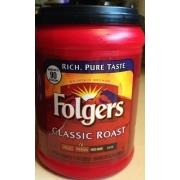 Folgers Classic Roast Medium Coffee Nutrition Grade A Minus