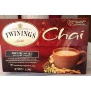Twinings Of London Chai, Decaffeinated. nutrition ...