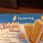 Photo Of User Added Lucerne Birthday Cake Ice Cream Sandwich