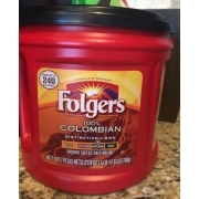 Folgers Coffee Ground 100 Colombian Med Dark