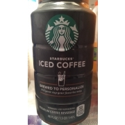 Starbucks Iced Coffee starbucks iced coffee, brewed to personalize: calories, nutrition