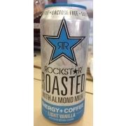 Rockstar Roasted With Almond Milk Energy Plus Coffee Light Vanilla