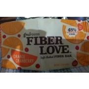gnu foods fiber love soft baked fiber bar orange is graded by fooducate. Black Bedroom Furniture Sets. Home Design Ideas