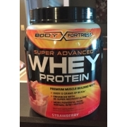 Body Fortress Super Advanced Whey Protein, Strawberry. nutrition grade C