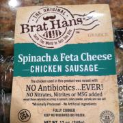 User Added Brat Hans Spinach Feta Cheese Chicken Sausage