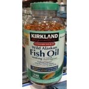 Kirkland Signature Wild Alaskan Fish Oil, Dietary Supplement: Calories, Nutrition Analysis ...