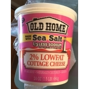 Old Home 2% Lowfat Cottage Cheese, Made With Sea Salt