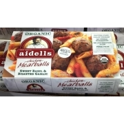 Aidells Fully Cooked Teriyaki & Pineapple Chicken Meatballs, 12/46 Ounce Ingredients Chicken, dried pineapple (pineapple, cane sugar), cane sugar, vinegar, contains 2% or less of the following: tamari soy sauce powder (tamari soy sauce [soybeans, wheat, salt], maltodextrin, salt), sea salt, garlic, dehydrated miso (soybeans, salt), ginger, spice.