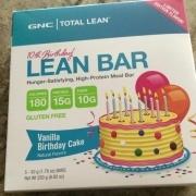 GNC Total Lean Bar Vanilla Birthday Cake