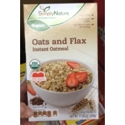 Simply Nature Organic Oats And Flax Instant Oatmeal: Calories, Nutrition Analysis & More | Fooducate