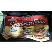 Arnold Sandwich Thins Potato Rolls Calories Nutrition