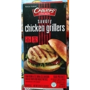 Cravers Chicken Savory Chicken Grillers: Calories, Nutrition Analysis & More | Fooducate