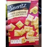 savoritz white cheddar cheese crackers calories nutrition analysis