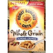 Post Honey Bunches Of Oats, Whole Grain, Almond Crunch: Calories ...